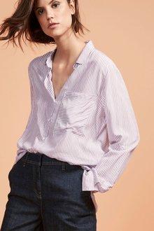 Next Lilac/Ivory Stripe Shirt - Petite