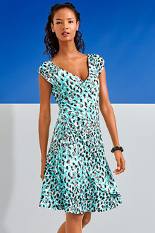 Heine Wrap Effect Printed Dress - 202593