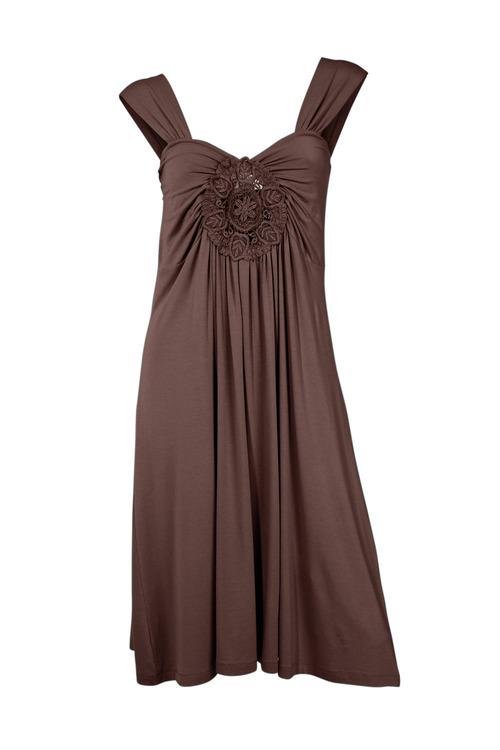 Heine Embroidery Detail Draped Dress