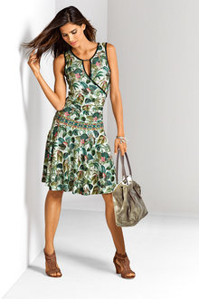 Heine V Neck Printed Dress
