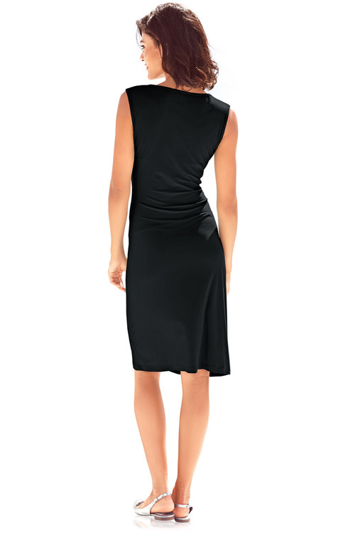 Heine V Neck Draped Dress