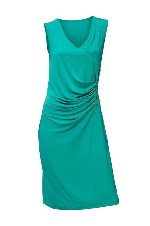 Heine V Neck Draped Dress