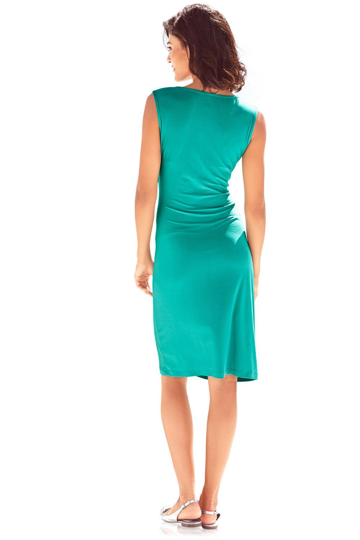 Heine V Neck Draped Dress Online   Shop EziBuy