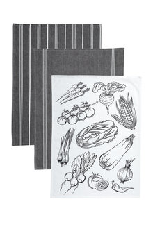 Bistro Tea Towels Set Of 3