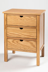 Madsen Three Drawer Bedside Table