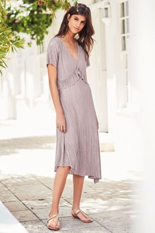 Next Jersey Ruffle Midi Dress