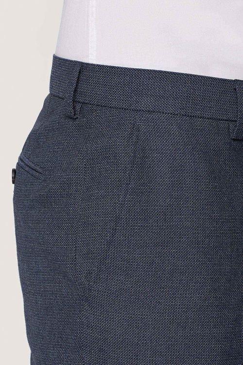 Next Textured Birdseye Suit: Trousers - Slim Fit