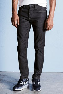 Next Dark Wash Slim Fit Utility Jeans