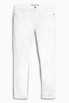 Next White Skinny Fit Jeans With Stretch