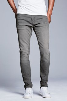 Next Grey Skinny Fit Soft Touch Jeans