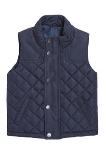 Next Navy Quilted Gilet (3mths-6yrs)