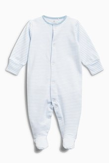 Next Blue/White Sleepsuits Four Pack (0mths-2yrs)