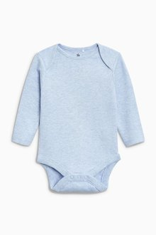 Next Blue/White Long Sleeve Bodysuits Four Pack (0mths-3yrs)