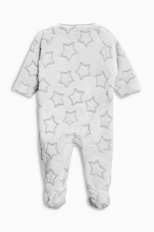 Next Soft Star Fleece Sleepsuit (0mths-3yrs)