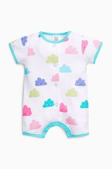 Next Cloud Short Leg Rompers Four Pack (0mths-2yrs)