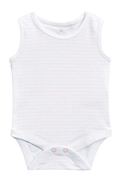 Next Pink/White Vests Four Pack (0mths-3yrs)
