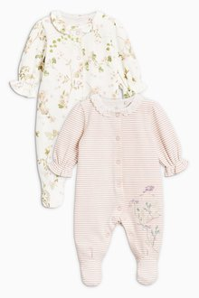 Next Floral Sleepsuits Two Pack (0mths-2yrs)
