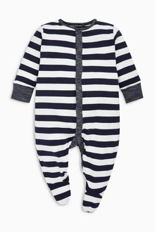 Next Stripe And Star Print Sleepsuits Three Pack (0mths-2yrs)