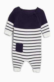 Next Knitted Stripe Romper (0mths-2yrs)