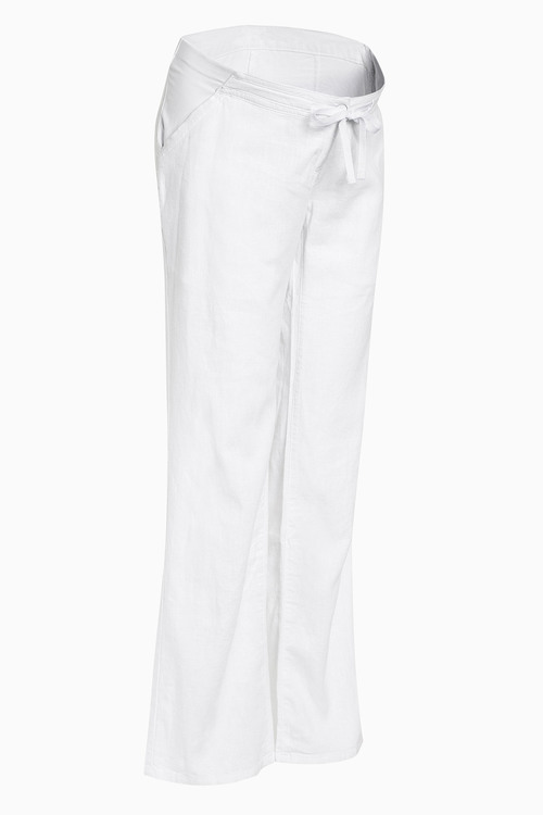 Next Maternity Linen Blend Trousers