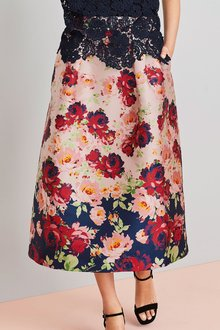 Next Jacquard Border Print Skirt