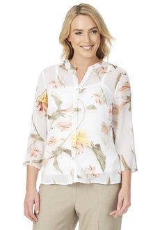 Noni B Anastasia Lurex Detail Shirt - 203107