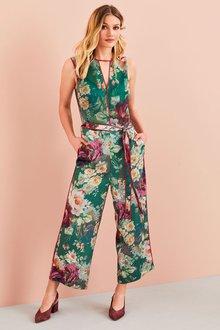 Next Print Culotte Jumpsuit