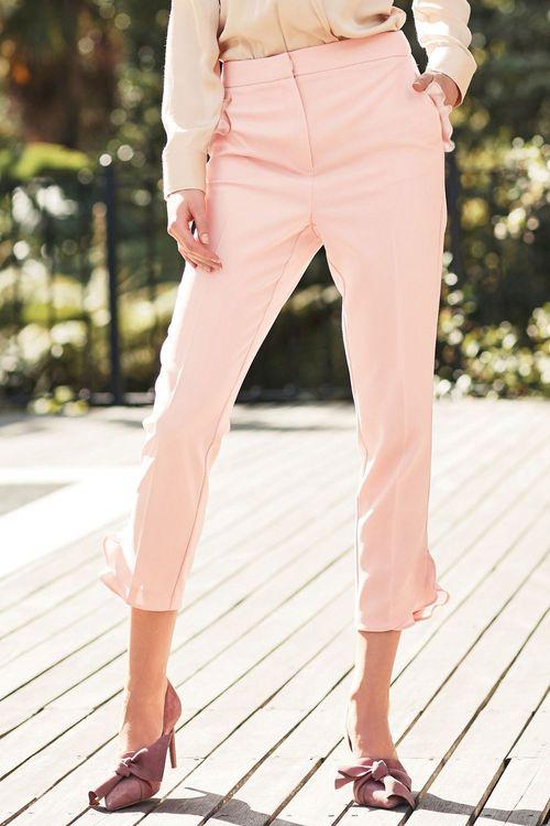 Next Ruffle Detail Skinny Trousers