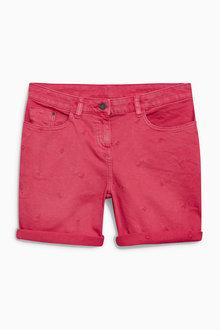 Next Embroidered Flamingo Shorts
