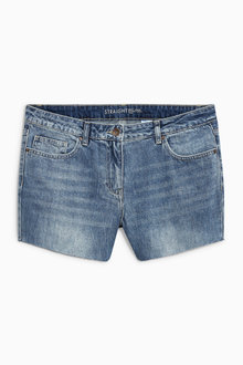 Next Raw Hem Denim Shorts