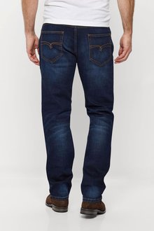 Next Straight Fit Belted Jeans - 203170