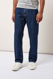 Next Mid Blue Straight Fit Jeans