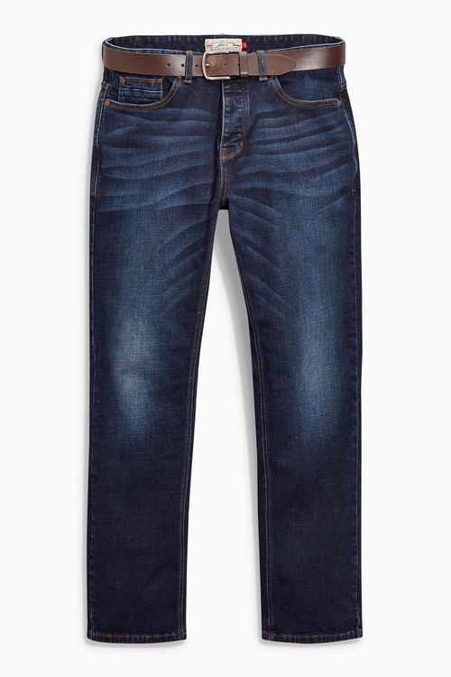 Next Loose Fit Belted Jeans