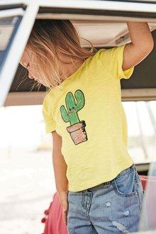 Next Sequin Cactus T-Shirt (3mths-6yrs)