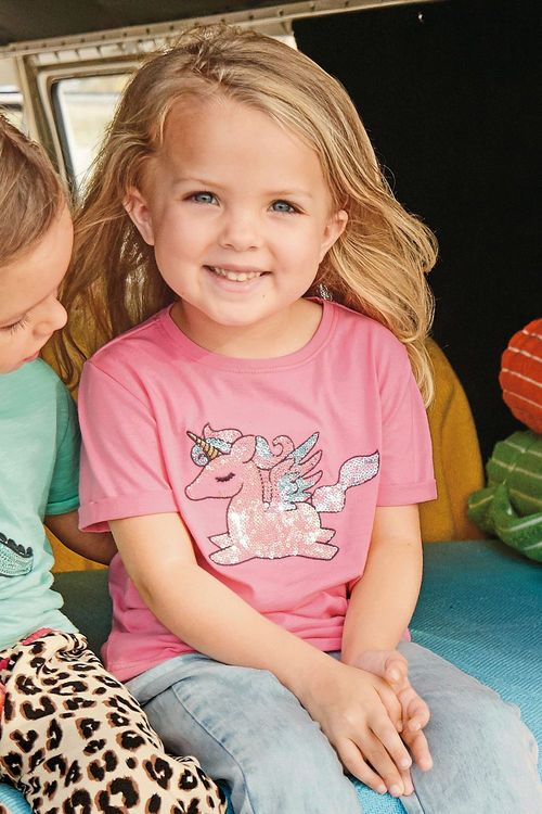Next Sequin Unicorn T-Shirt (3mths-6yrs)