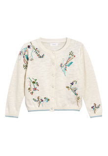 Next Flower Embroidered Cardigan (3mths-6yrs)