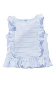 Next Blue Frill Blouse (3mths-6yrs)