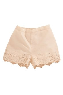 Next Pale Pink Broderie Shorts (3mths-6yrs)