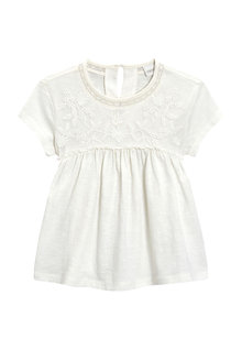 Next White Embroidered Blouse (3mths-6yrs)
