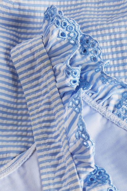 Next Stripe Broderie Swimsuit (3mths-6yrs)