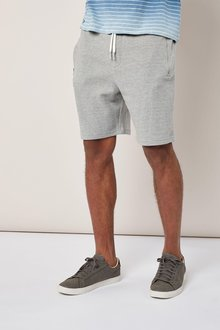 Next Grey Textured Jersey Shorts
