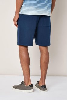 Next Navy Textured Jersey Shorts