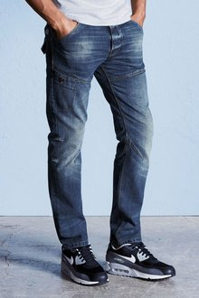 Next Light Blue Slim Fit Utility Jeans