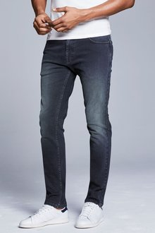Next Mid Blue Straight Fit Soft Touch Jeans