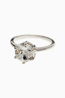 Next Platinum Plated Crystal Ring