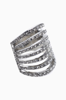 Next Diamante Ladder Ring