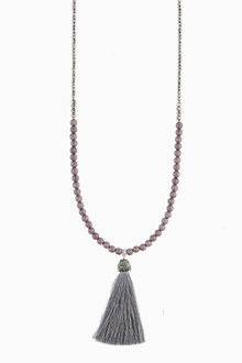 Next Tassel Beaded Long Necklace