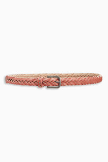 Next Plaited Leather Belt