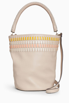 Next Weave Detail Bucket Bag