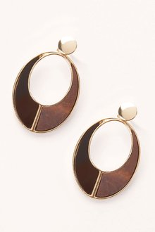 Next Wood Effect Drop Earrings
